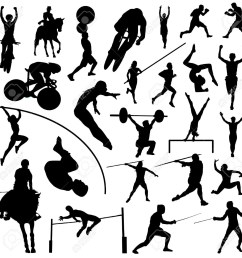 sports clipart black white olympic [ 1300 x 1300 Pixel ]