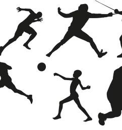 sports clipart black white sports [ 2340 x 1483 Pixel ]
