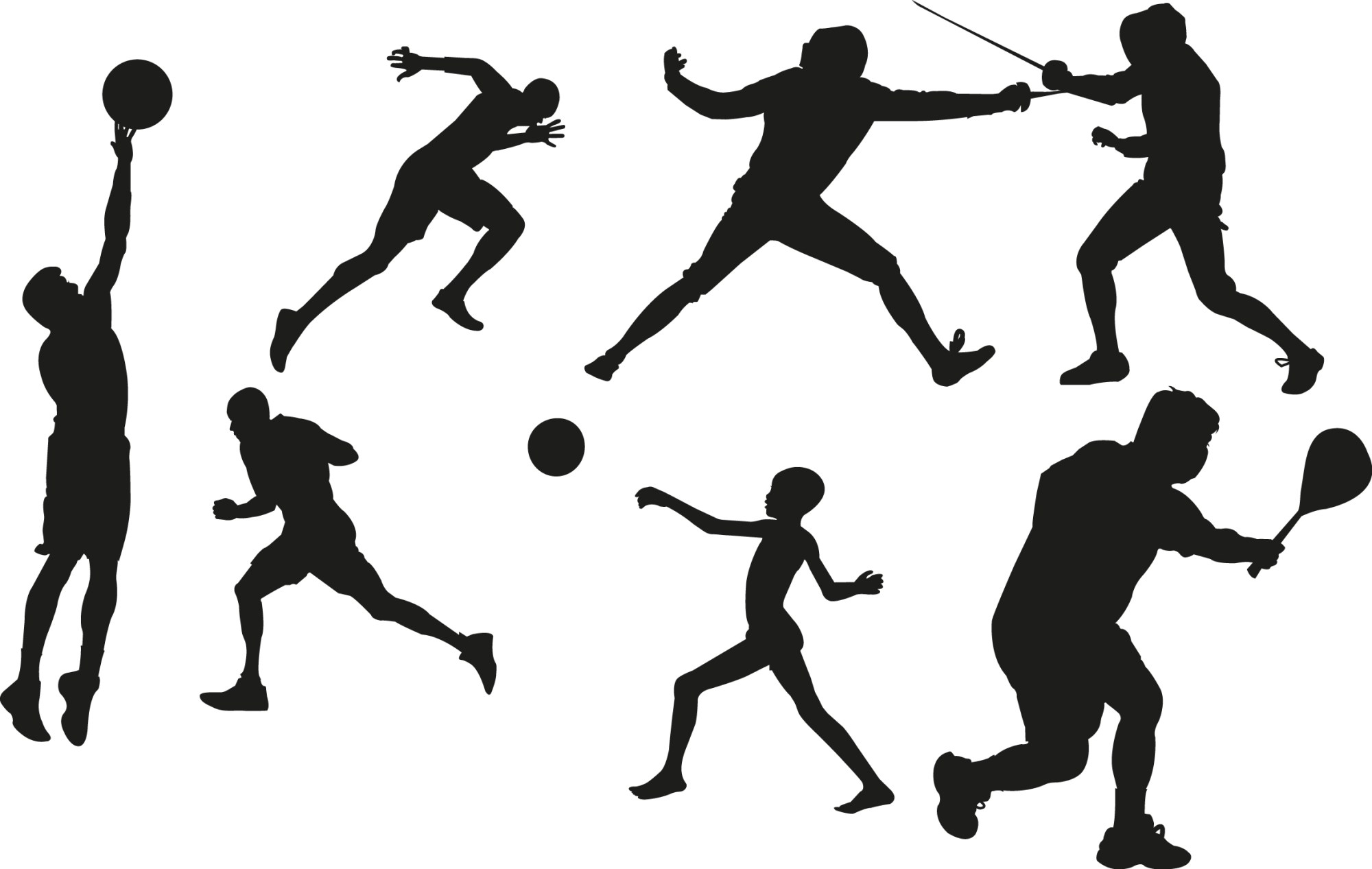 hight resolution of sports clipart black white sports