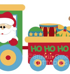 christmas train clipart [ 1417 x 600 Pixel ]