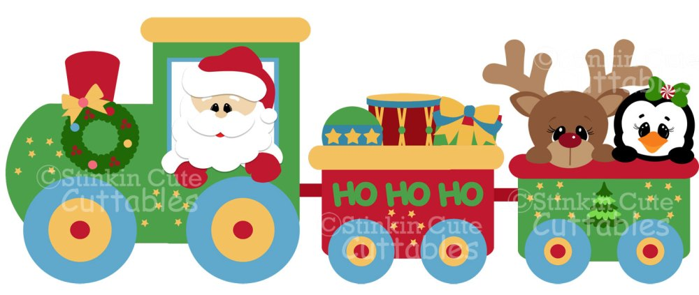 medium resolution of christmas train clipart