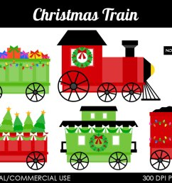 christmas train free clipart [ 1000 x 795 Pixel ]