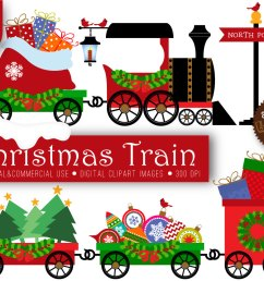 christmas train clipart free [ 1042 x 833 Pixel ]