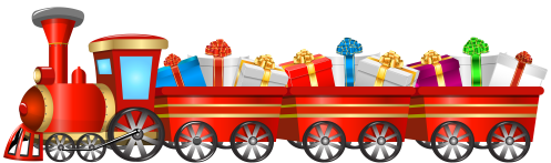 small resolution of christmas train transparent png clip art image