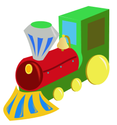 christmas train clipart [ 1969 x 1952 Pixel ]