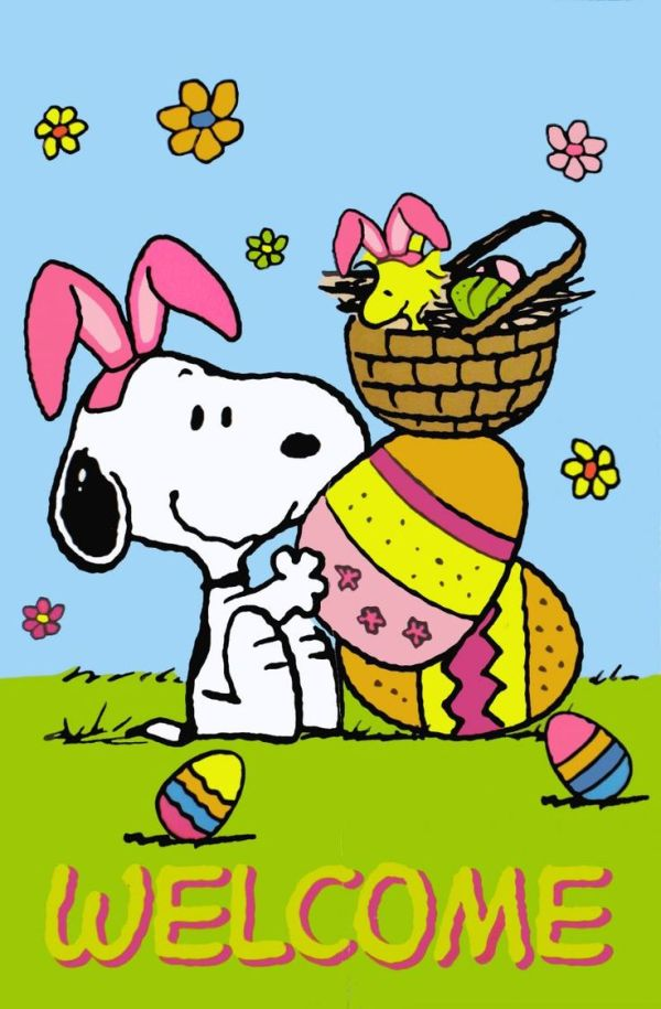 free snoopy easter cliparts