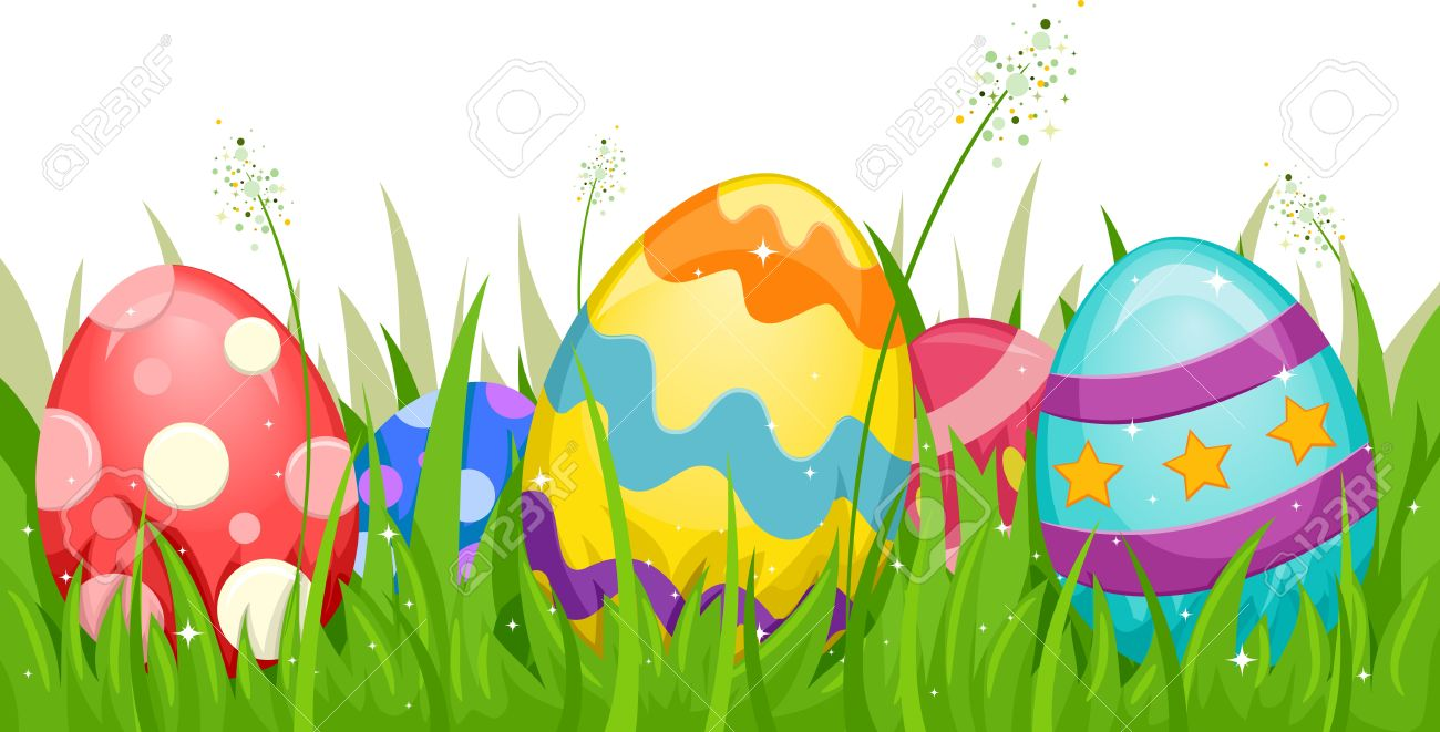 hight resolution of easter grass and eggs clipart