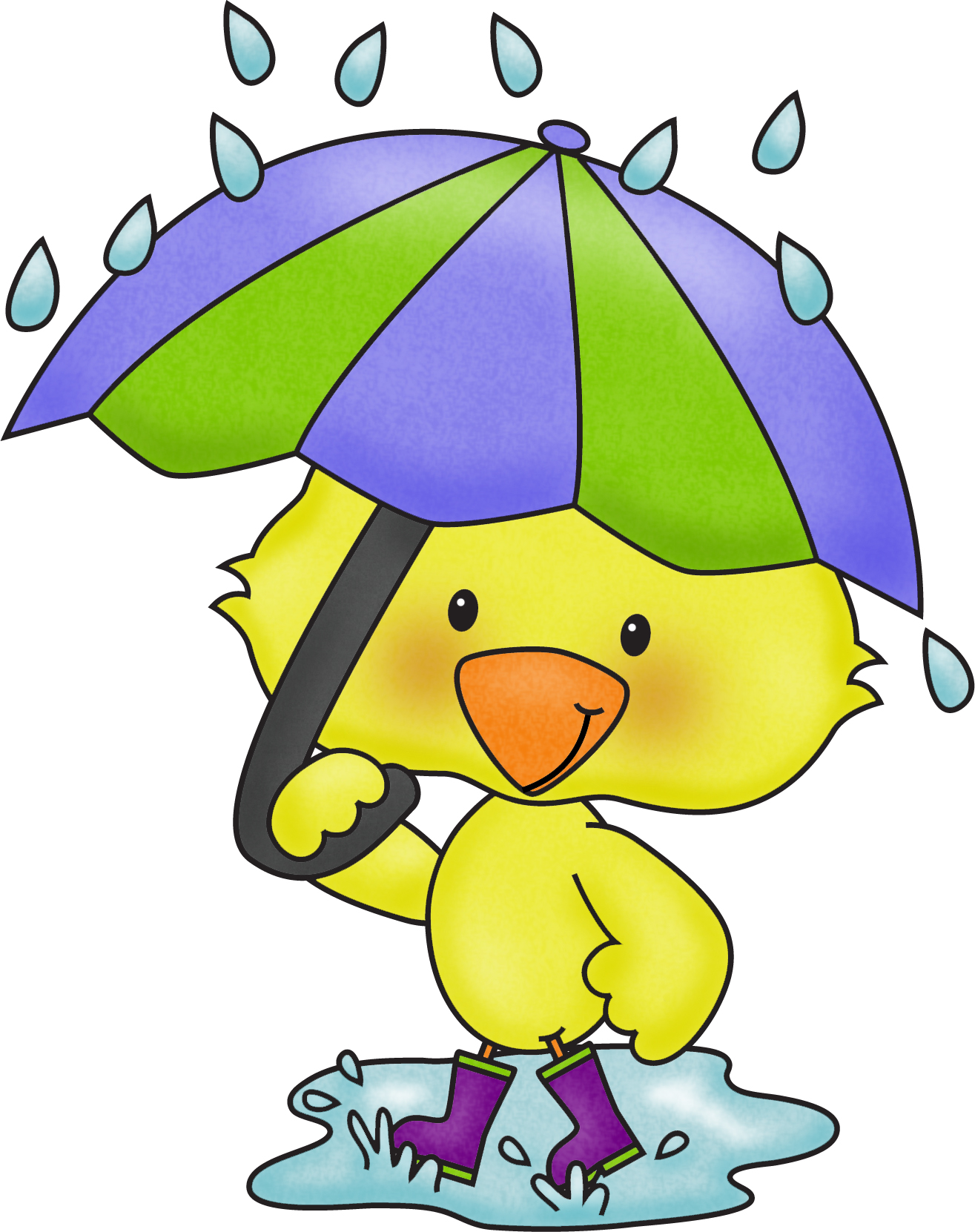 hight resolution of april showers clip art