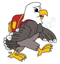 bald eagle school mascot clipart illustrations [ 1000 x 1000 Pixel ]
