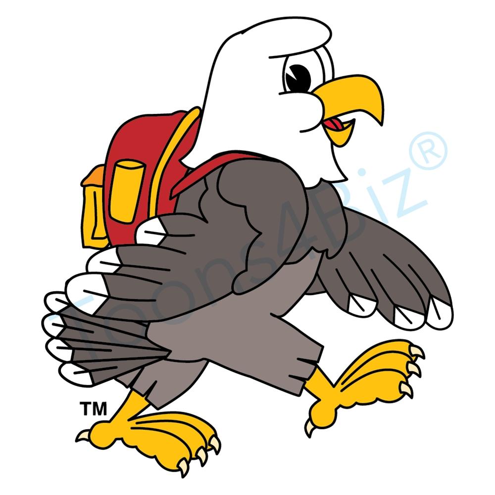 hight resolution of bald eagle school mascot clipart illustrations