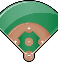 softball diamond clipart [ 2810 x 2391 Pixel ]