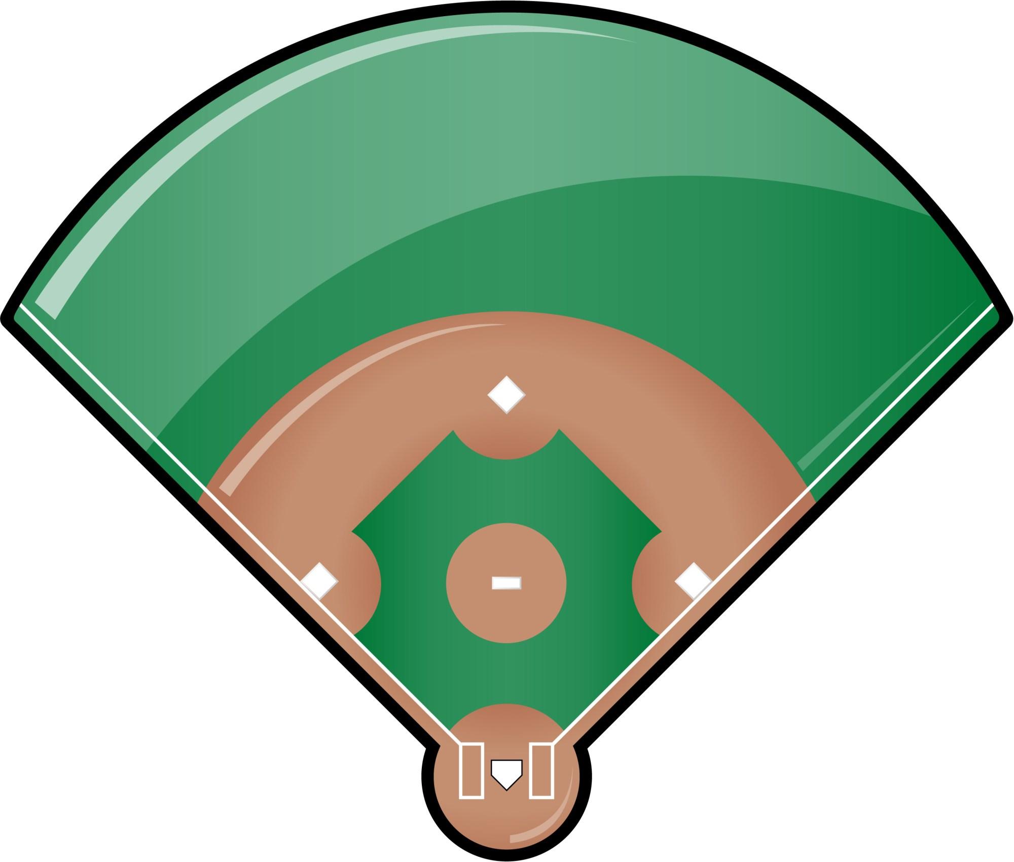hight resolution of softball diamond clipart