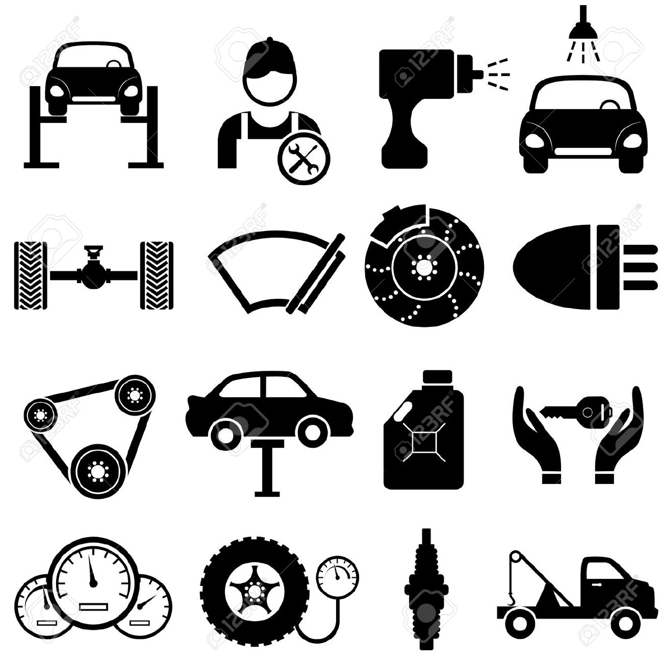 Free Black Mechanic Cliparts, Download Free Clip Art, Free