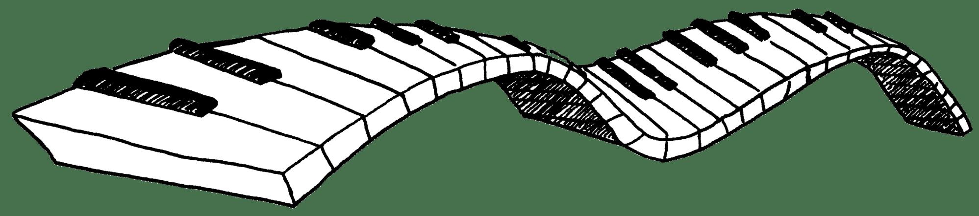 hight resolution of piano keys clipart