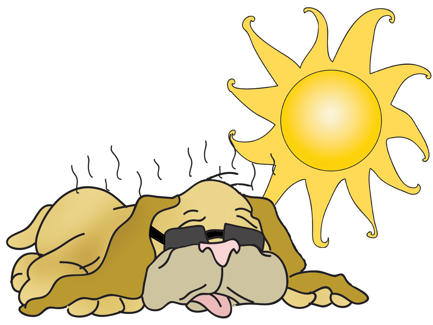 hight resolution of dog days of august clipart