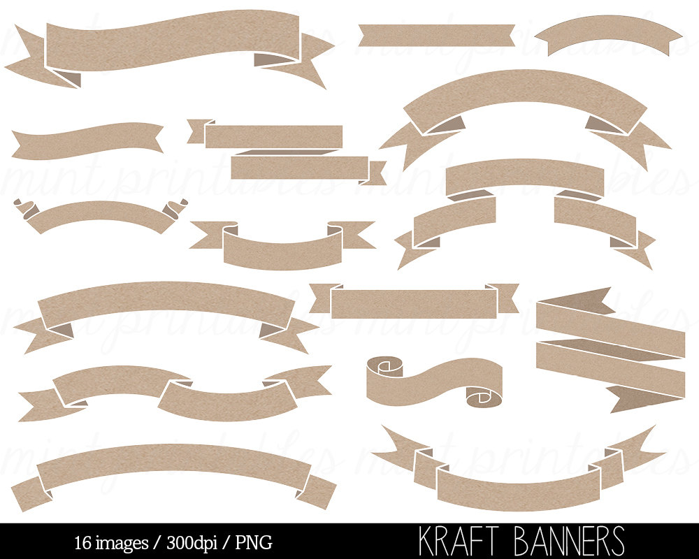 free craft banner cliparts