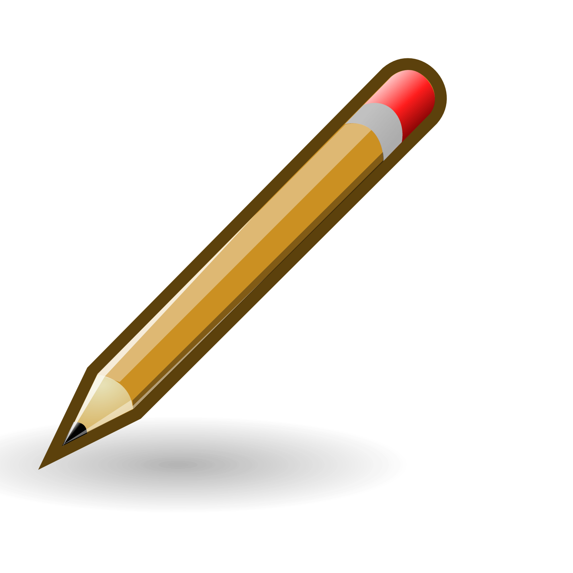 hight resolution of pencil clipart black and white