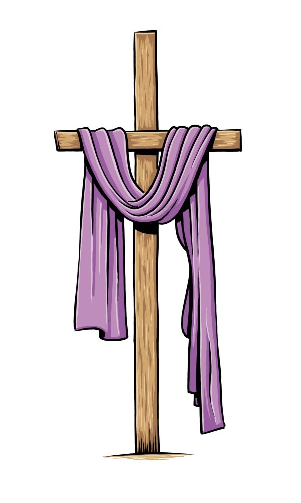 Purple Easter Cross Clip Art