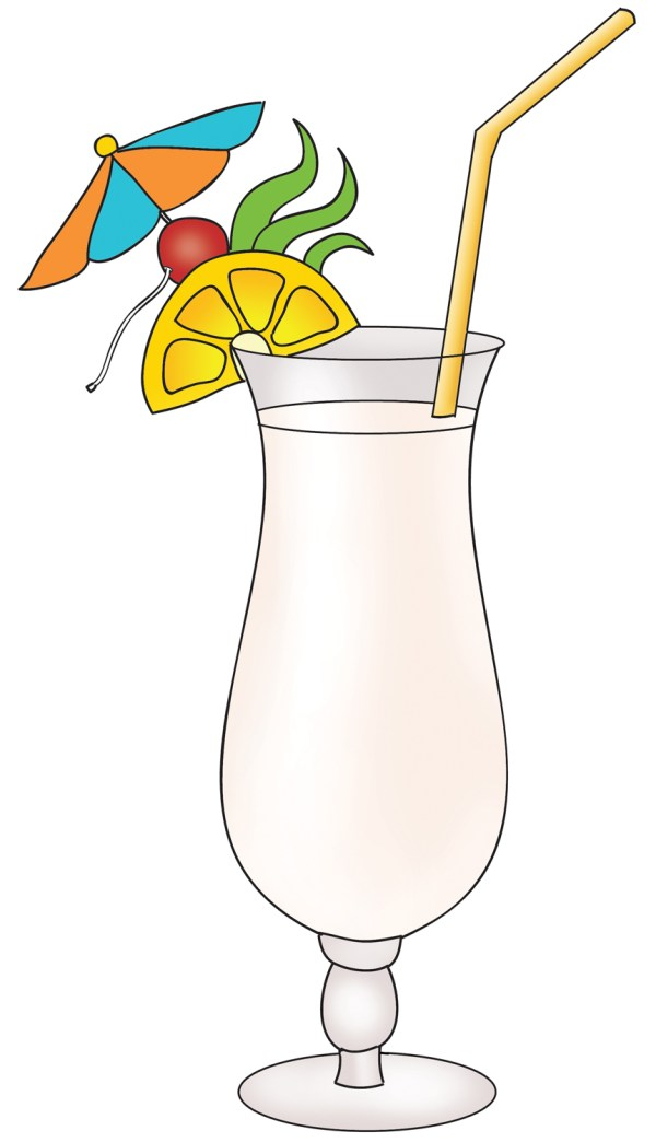 tropical drink clipart
