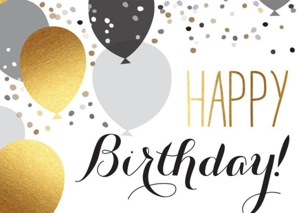 free birthday cliparts gold