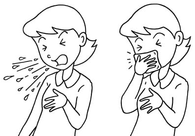 Influenza Prevention Measures Etiquette Manners Of Cough And