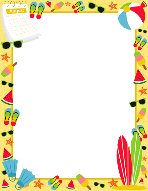 free summer borders cliparts