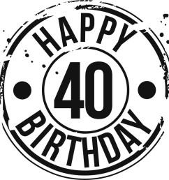 40 birthday clipart [ 1140 x 1140 Pixel ]