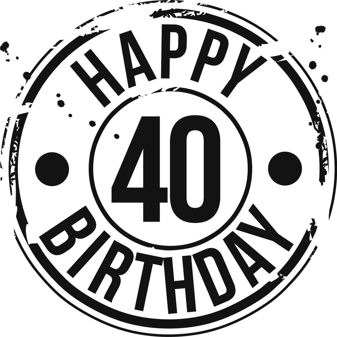 hight resolution of 40 birthday clipart