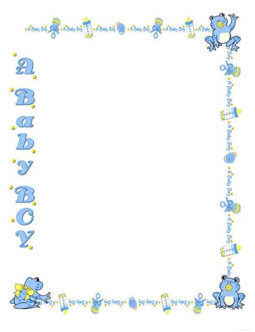 small resolution of free border clipart art baby boy free