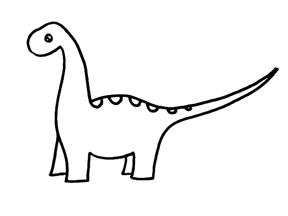 medium resolution of dinosaur clipart black and white