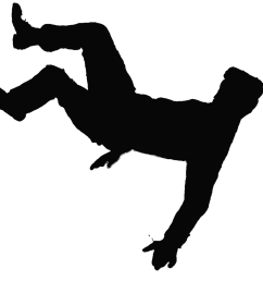 clip art image of guy slipping and falling clipart [ 1156 x 1042 Pixel ]