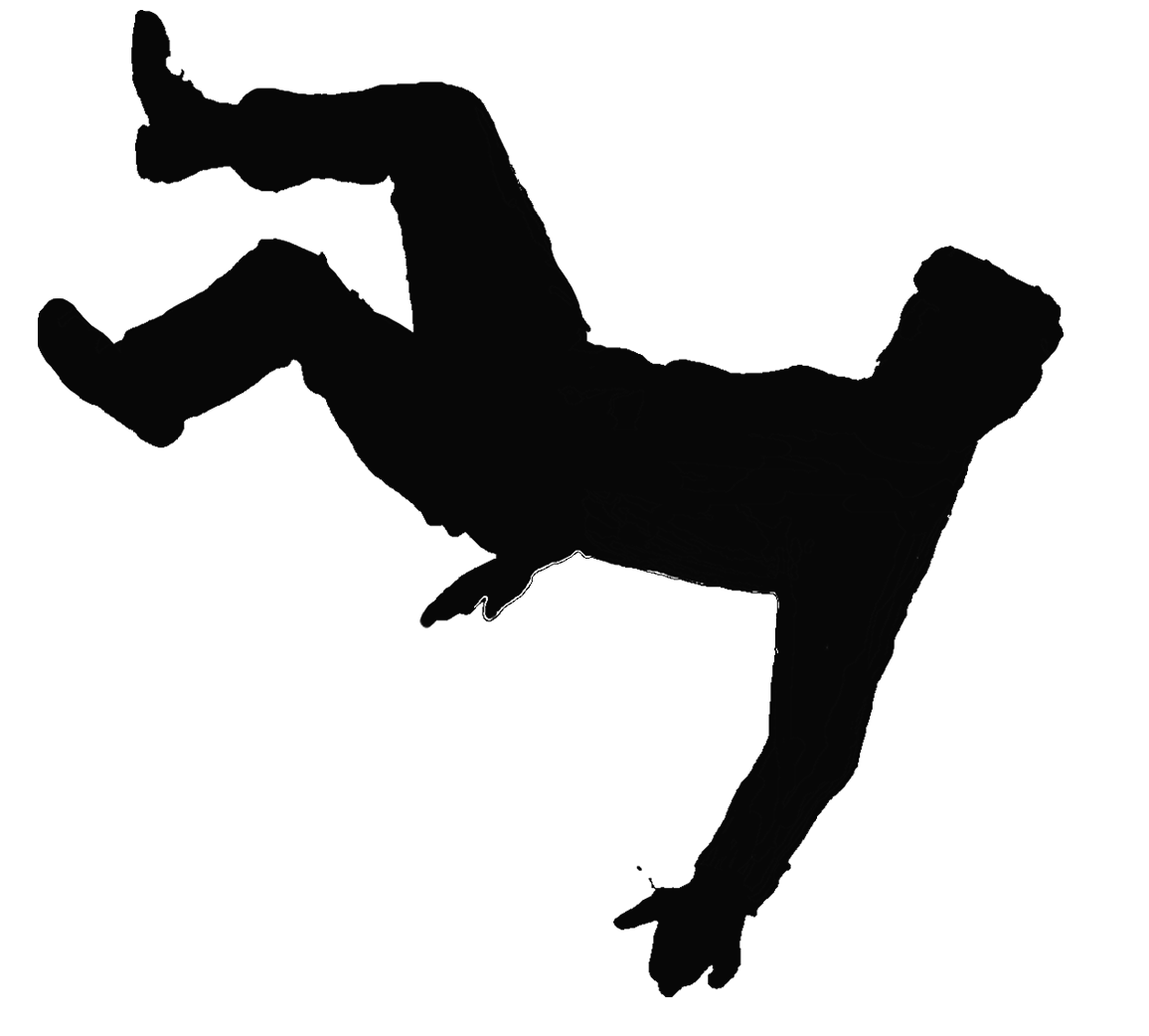 hight resolution of clip art image of guy slipping and falling clipart