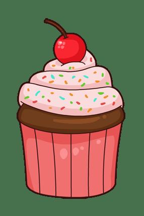 free cupcake cliparts transparent