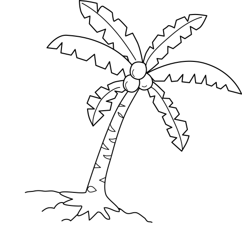 small resolution of clipart coconut tree