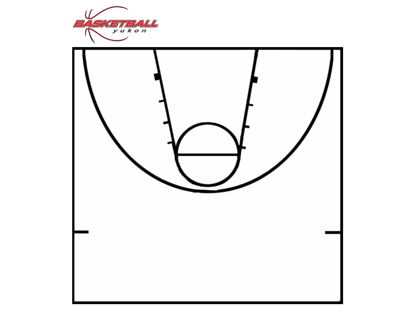 Basketball Half Court Floor