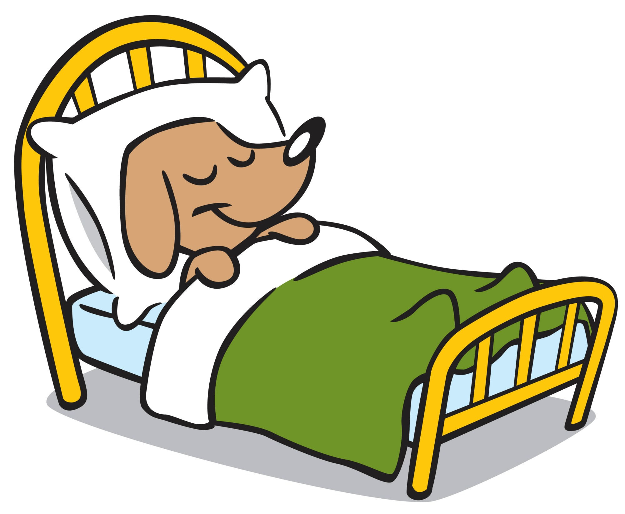 hight resolution of dog napping clipart