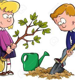 digging kids clipart [ 1300 x 914 Pixel ]