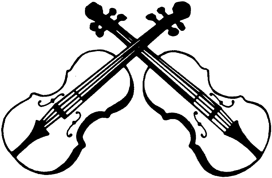 Playing Violin Clipart Black And White
