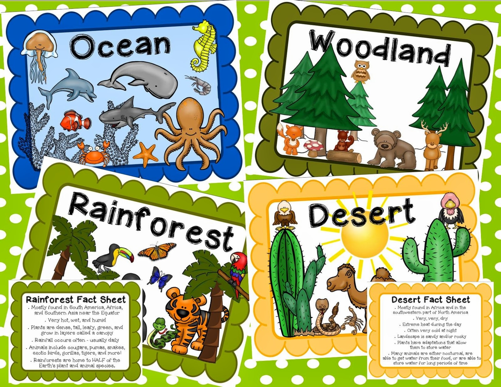 Animals And Their Habitats Clipart