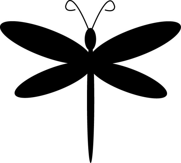 dragonfly clipart black and white