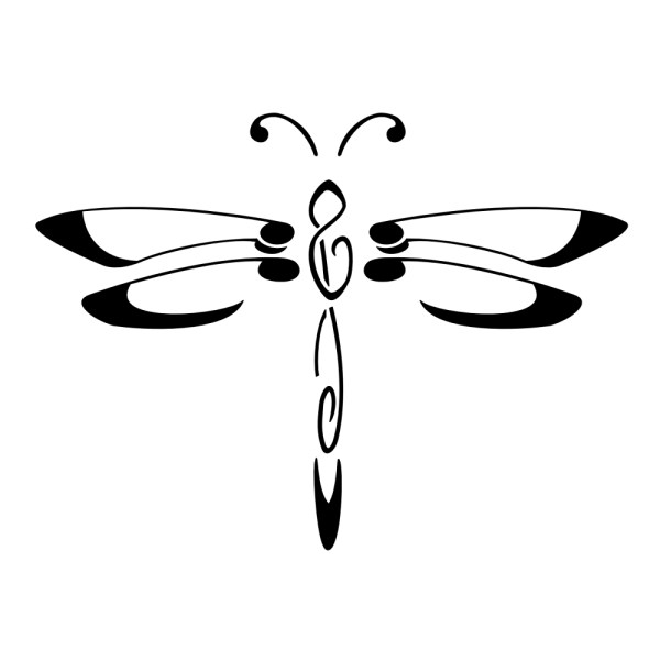 free black dragonfly cliparts