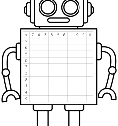 free robot clipart black and white [ 1068 x 1600 Pixel ]