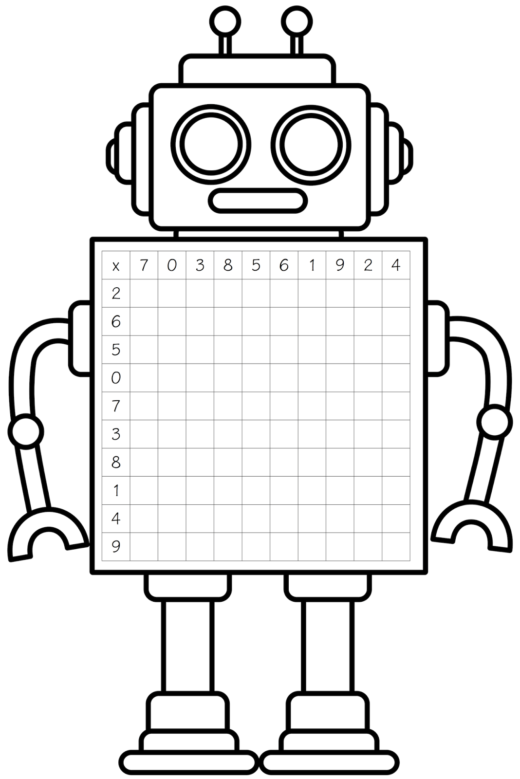 hight resolution of free robot clipart black and white