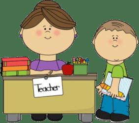 Cartoon Teacher And Student Clipart