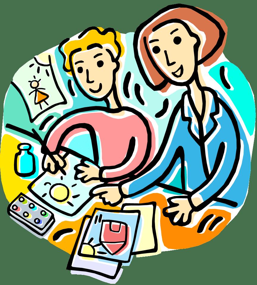 hight resolution of art teacher clipart free