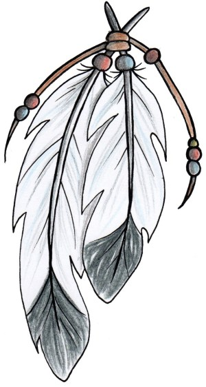 clipart clip simple drawings tree indian feathers library