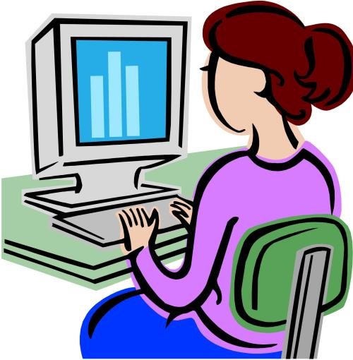 small resolution of man at computer clipart