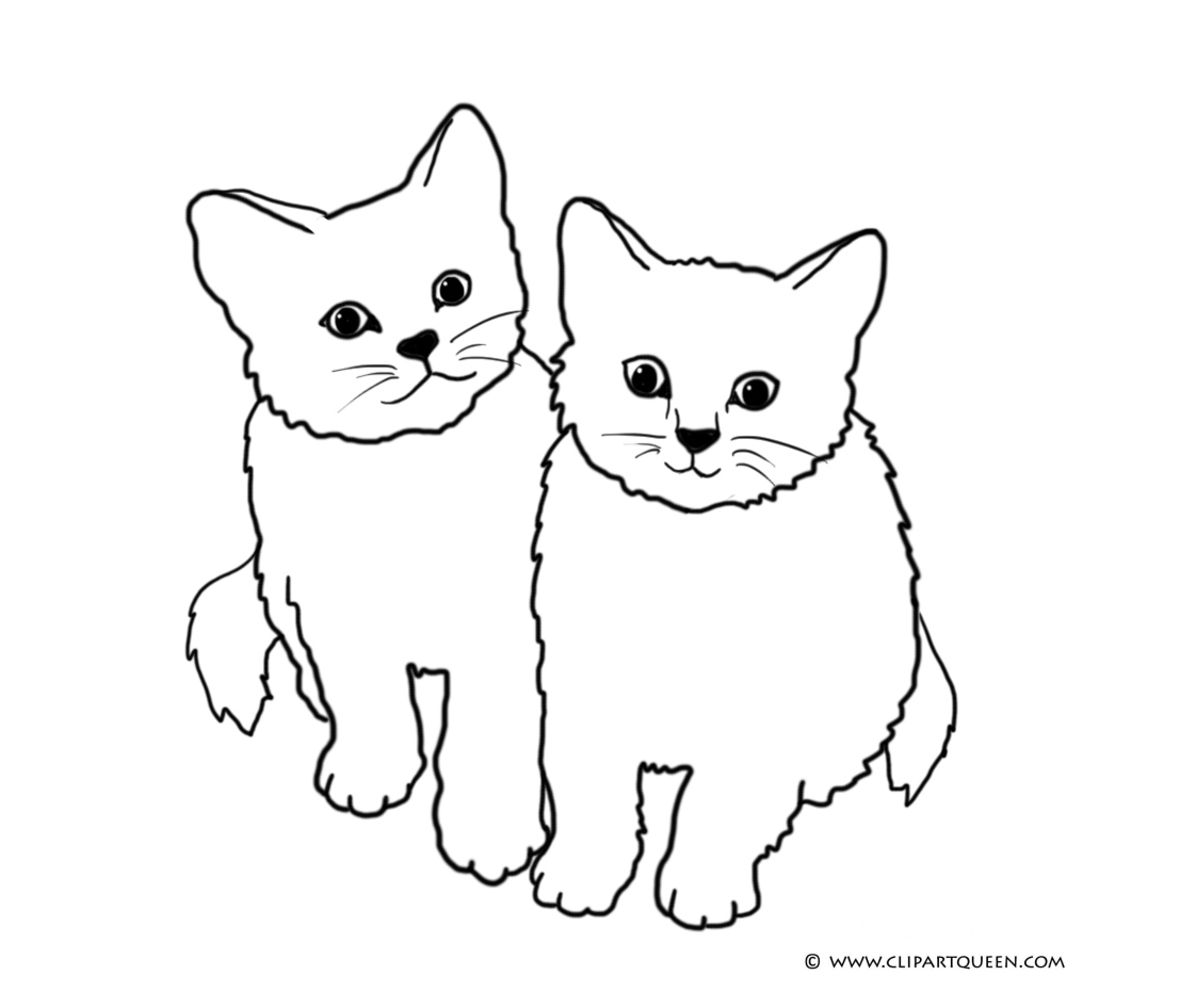 hight resolution of two cats clipart