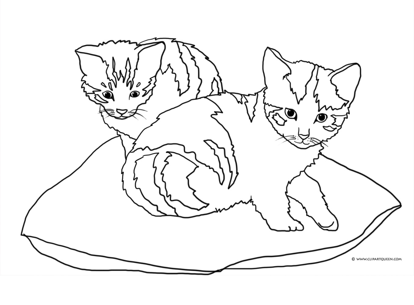 Two Cats Up A Tree Clipart