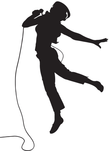 Free Silhouette Singing Cliparts, Download Free Clip Art
